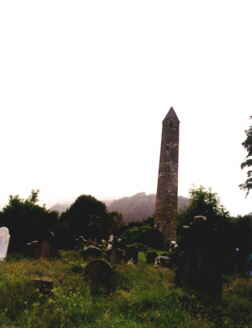 Round Tower and gravestones