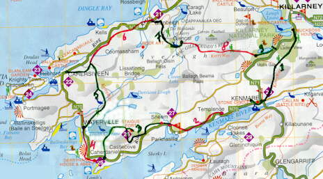 A map of the Kerry Way